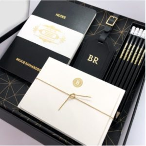Love Letters Stationery Gift Box Set Black