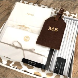Love Letters Stationery Gift Box Set Brown